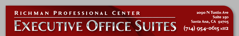 Richman Professional Center: Executive Office Suites - 2090 N. Tustin Ave., Suite 250, Santa Ana, CA 92705, (714) 954-0615